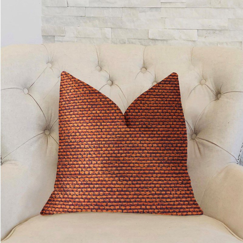 "Plutus Brands Roseate Orange Luxury Throw Pillow 26"" x 26"" (PBRA2302-2626-DP)"