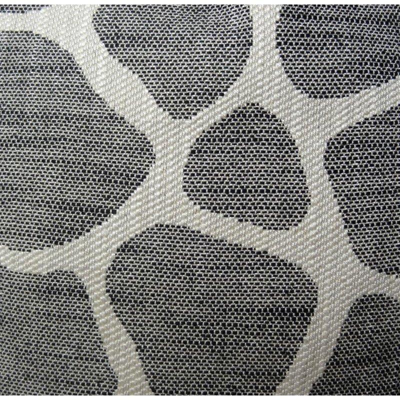 "Plutus Brands Sable Giraffe Black and Cream Handmade Luxury Pillow 18"" x 18"" (PBRAZ201-1818-DP)"