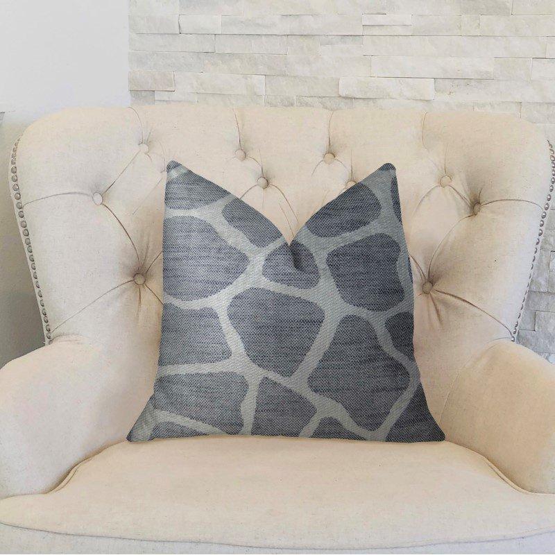 "Plutus Brands Sable Giraffe Black and Cream Handmade Luxury Pillow 22"" x 22"" (PBRAZ201-2222-DP)"