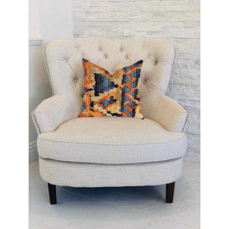 "Plutus Brands Sachi Love Luxury Throw Pillow In Multi Colors Pillows 22"" x 22"" (PBRA1393-2222-DP)"