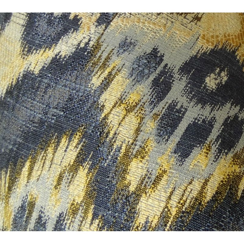"""Plutus Brands Sacred Pixie Blue Navy and Taupe Handmade Luxury Pillow 18"""" x 18"""" (PBRAZ082-1818-DP)"""