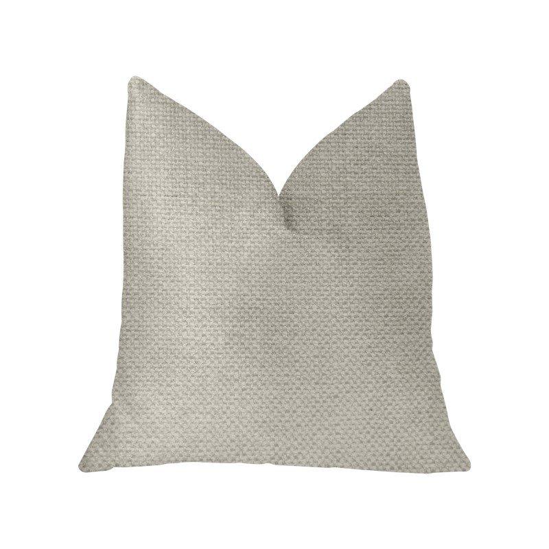 "Plutus Brands Sanctuary White Luxury Throw Pillow 18"" x 18"" (PBKR1917-1818-DP)"