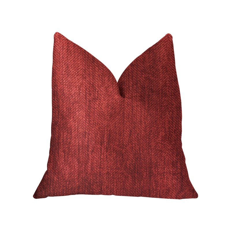 "Plutus Brands Sangria Cherry Red Luxury Throw Pillow 16"" x 16"" (PBKR1964-1616-DP)"