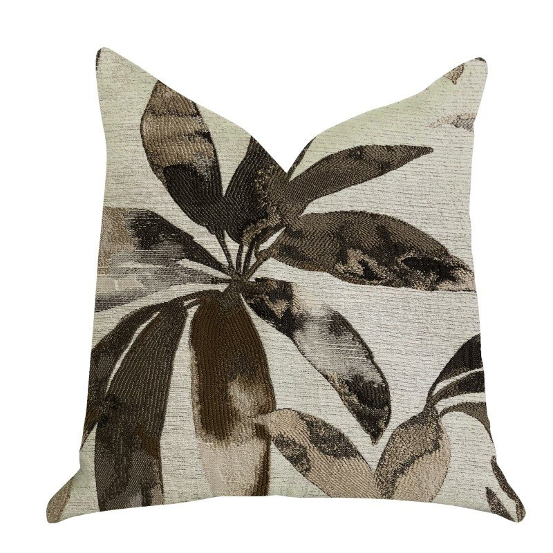 "Plutus Brands Santorini Cove Beige and Brown Tones Luxury Throw Pillow 20"" x 26"" Standard (PBRA1385-2026-DP)"