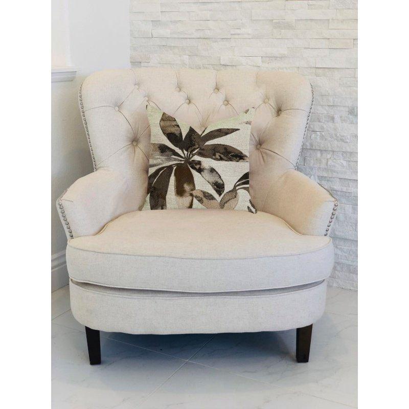 "Plutus Brands Santorini Cove Beige and Brown Tones Luxury Throw Pillow 26"" x 26"" (PBRA1385-2626-DP)"