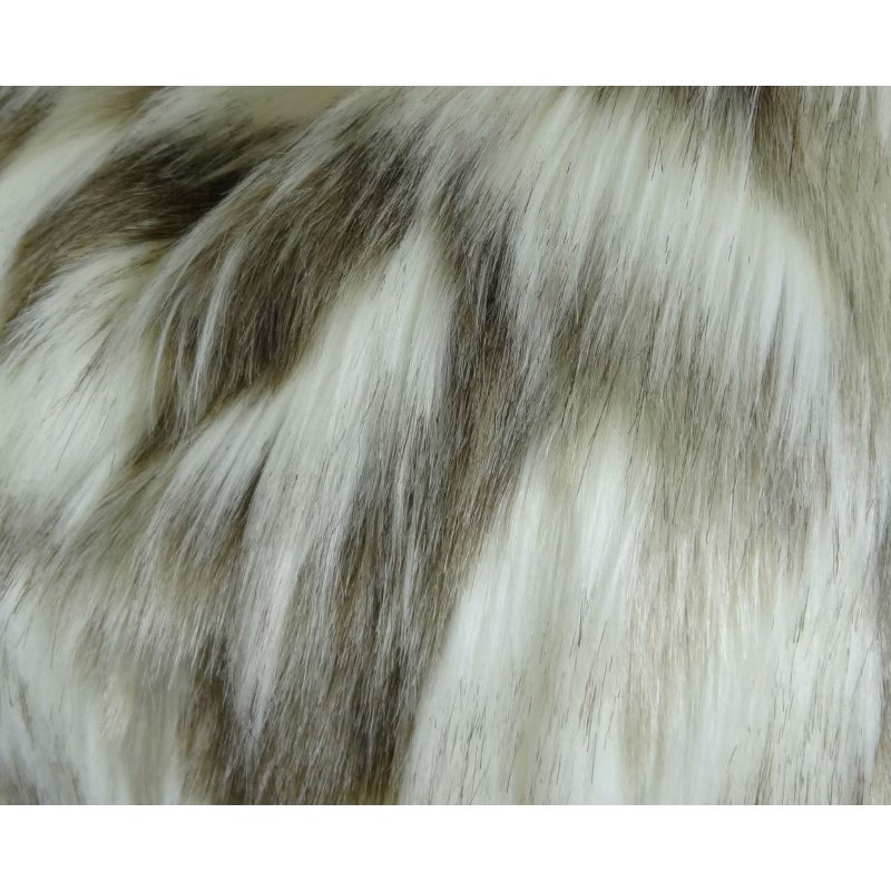 "Plutus Brands Sassy Tibet Fox Ivory Beige Handmade Luxury Pillow 20"" x 30"" Queen (PBRAZ455-2030-DP)"
