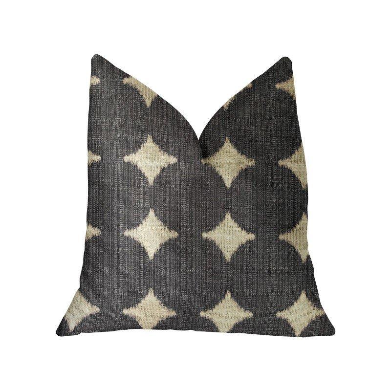 "Plutus Brands Savannah Black and Beige Luxury Throw Pillow 20"" x 36"" King (PBRA2255-2036-DP)"