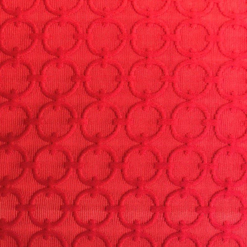 "Plutus Brands Scarlet Cercles Red Luxury Throw Pillow 20"" x 20"" (PBRA2224-2020-DP)"