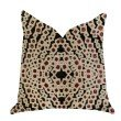 """Plutus Brands Scarlet Gem Luxury Throw Pillow in Red and Black Pillows 22"""" x 22"""" (PBRA1378-2222-DP)"""