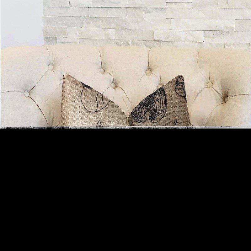 "Plutus Brands Seashell Bay Blue and Beige Luxury Throw Pillow 12"" x 20"" (PBRA2325-1220-DP)"