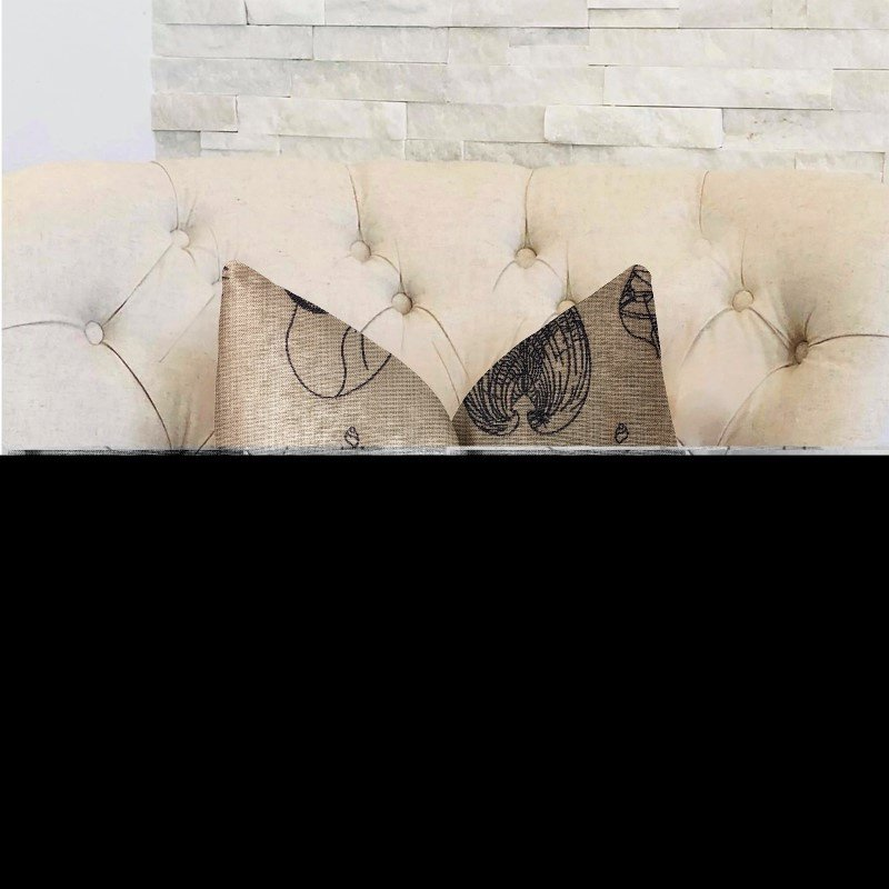 "Plutus Brands Seashell Bay Blue and Beige Luxury Throw Pillow 26"" x 26"" (PBRA2325-2626-DP)"