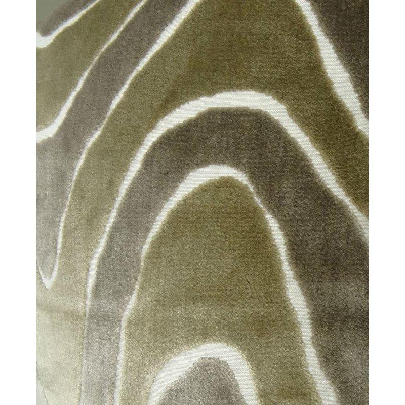 "Plutus Brands Sensous Waves Taupe Ivory Greige Handmade Luxury Pillow 20"" x 36"" King (PBRAZ397-2036-DP)"