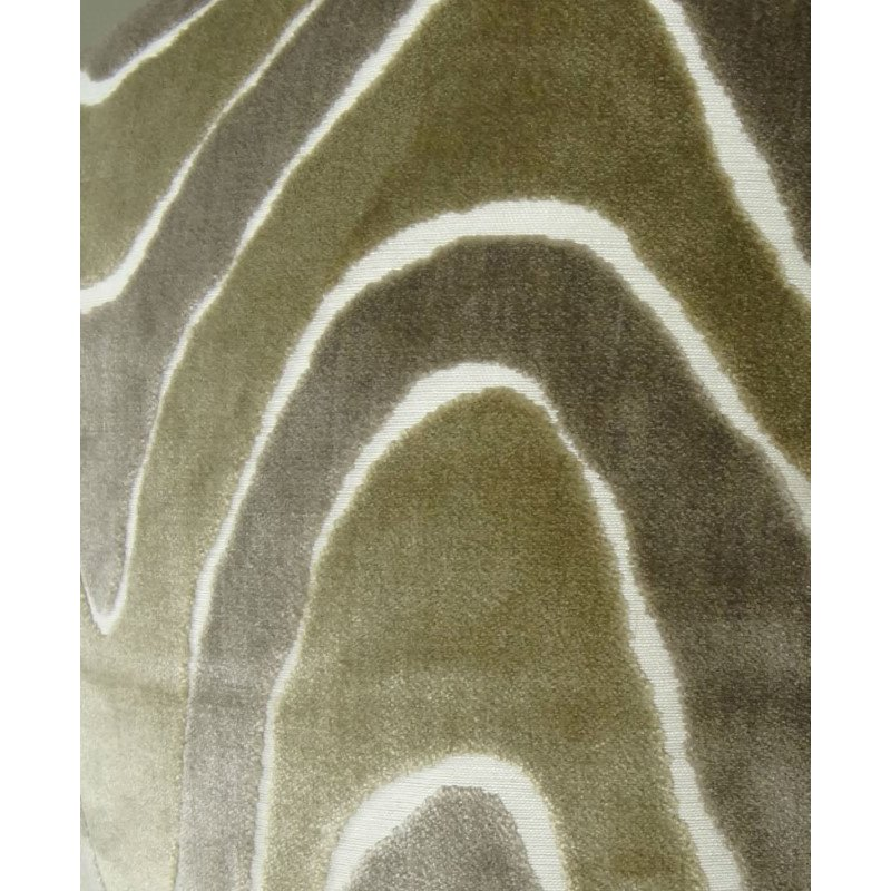 """Plutus Brands Sensous Waves Taupe Ivory Greige Handmade Luxury Pillow Double Sided 26"""" x 26"""" (PBRAZ397-2626-DP)"""