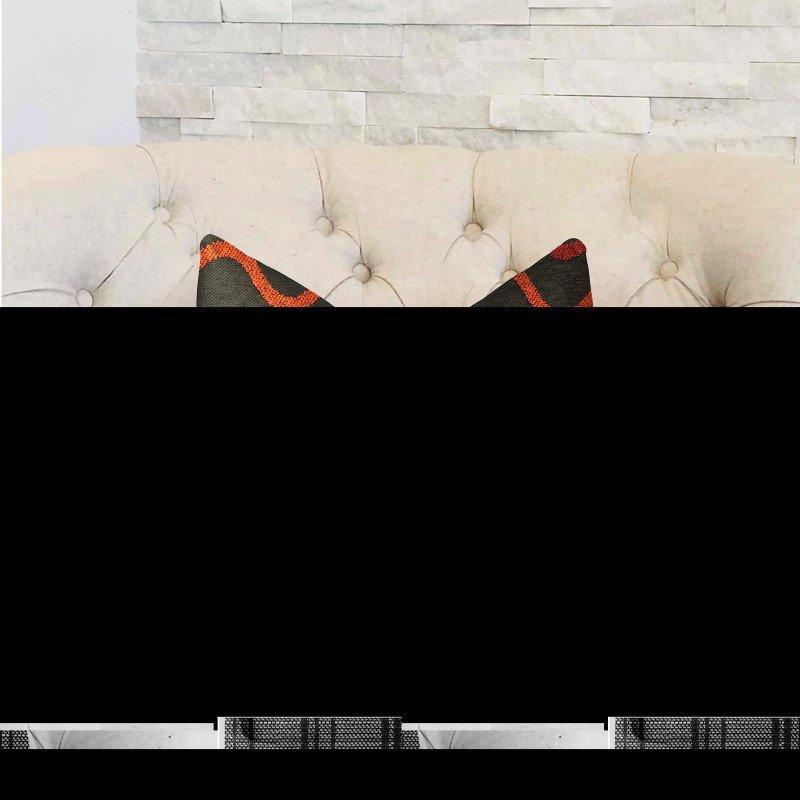 "Plutus Brands Serenity Flow Gray and Orange Luxury Throw Pillow 26"" x 26"" (PBRA2305-2626-DP)"
