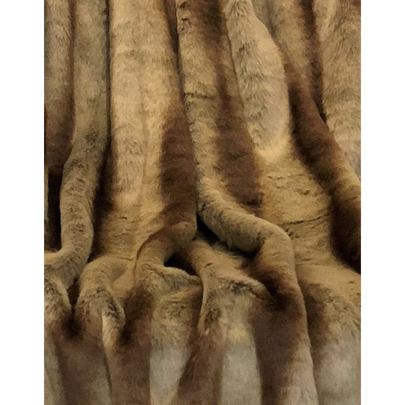 "Plutus Brands Sheared Faux Chinchilla Luxury Throw Blanket 114""L x 120""W King (PBSF1418-114x120)"