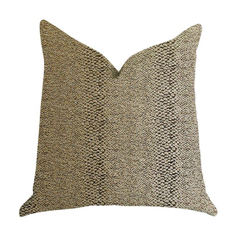 "Plutus Brands Shimmer in Gold Metallic Luxury Throw Pillow 20"" x 20"" (PBRA1384-2020-DP)"