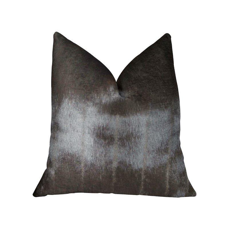 "Plutus Brands Silky Brown Mik Dark Brown Handmade Luxury Pillow 20"" x 26"" Standard (PBRAZ475-2026-DP)"