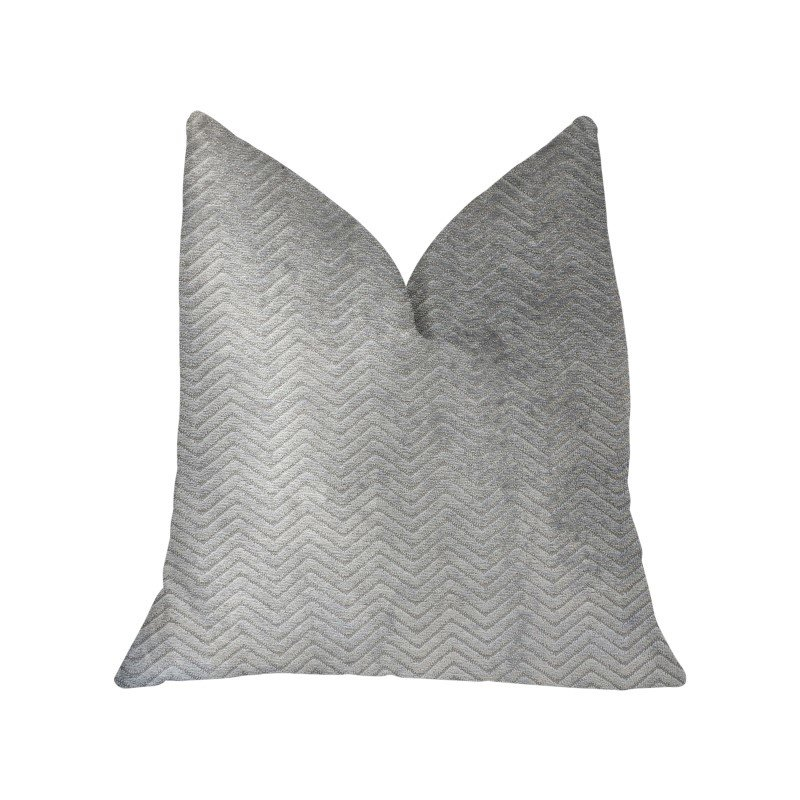 """Plutus Brands Silver Moon Gray and Silver Luxury Throw Pillow 20"""" x 26"""" Standard (PBKR1942-2026-DP)"""