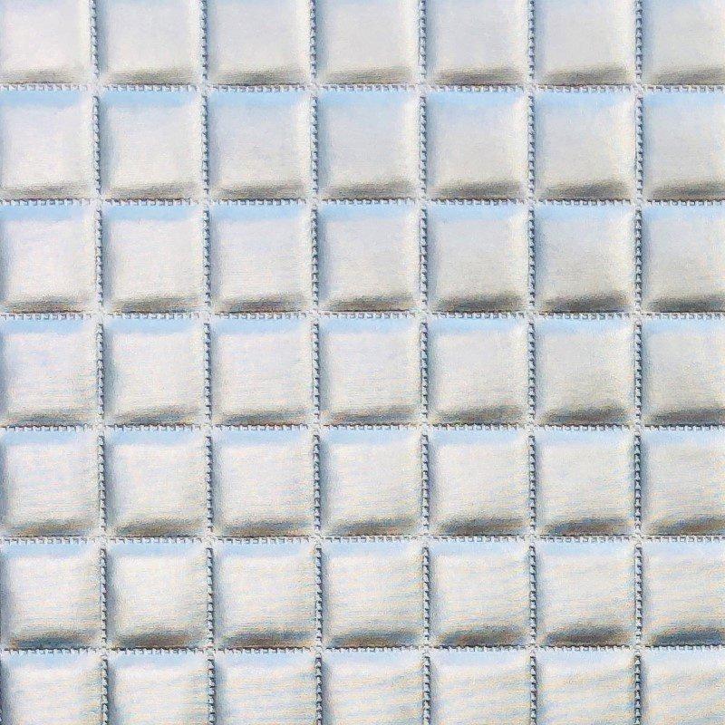 "Plutus Brands Silverton Silver Artificial Leather Luxury Throw Pillow 22"" x 22"" (PBKR1958-2222-DP)"
