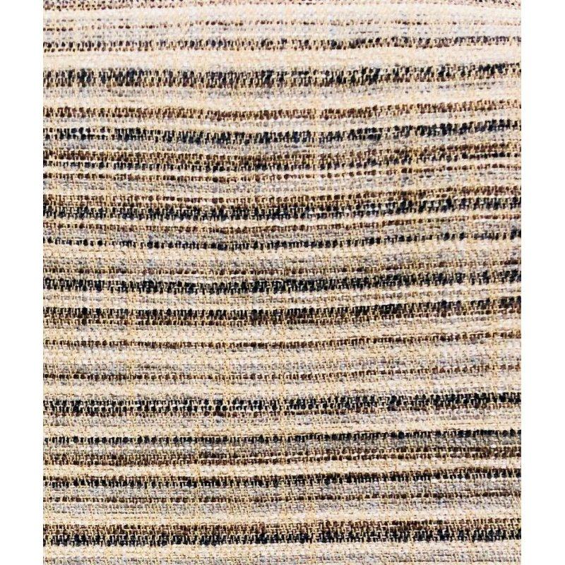 "Plutus Brands Skyway Lines Luxury Brown-Beige Multi Tones Throw Pillow 26"" x 26"" (PBRA1340-2626-DP)"