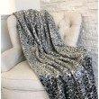 "Plutus Brands Snow Leopard Faux Fur Gray Luxury Throw Blanket 80""L x 90""W Twin XL (PBEZ1665-8090-TC)"