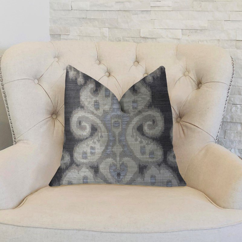 """Plutus Brands Social Butterfly Brown Shades Luxury Throw Pillow 18"""" x 18"""" (PBKR1994-1818-DP)"""