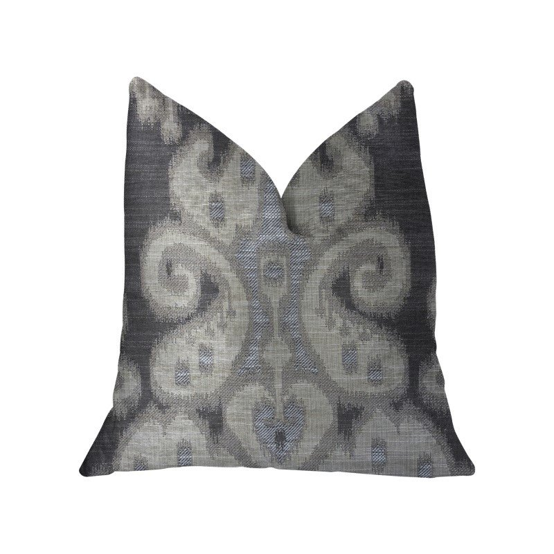 """Plutus Brands Social Butterfly Brown Shades Luxury Throw Pillow 22"""" x 22"""" (PBKR1994-2222-DP)"""