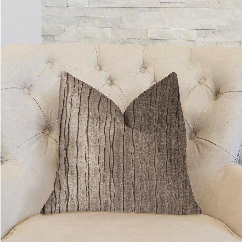 """Plutus Brands Solitude Gray Luxury Throw Pillow 20"""" x 30"""" Queen (PBRA2267-2030-DP)"""