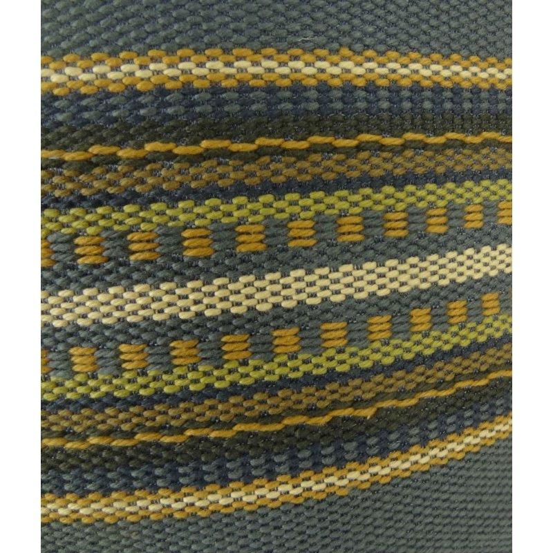 "Plutus Brands South Shore Dark Blue Olive Green and Cream Handmade Luxury Pillow 26"" x 26"" (PBRAZ312-2626-DP)"