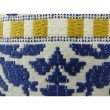 "Plutus Brands Splendid Aztec Blue and White Handmade Luxury Pillow 20"" x 36"" King (PBRAZ071-2036-DP)"