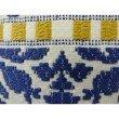 "Plutus Brands Splendid Aztec Blue and White Handmade Luxury Pillow 24"" x 24"" (PBRAZ071-2424-DP)"