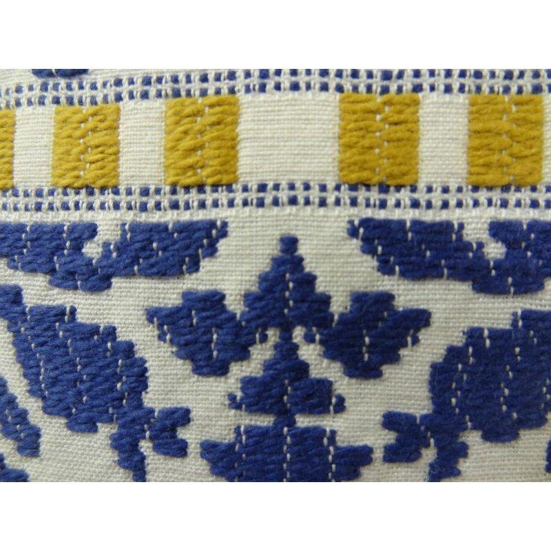 "Plutus Brands Splendid Aztec Blue and White Handmade Luxury Pillow 26"" x 26"" (PBRAZ071-2626-DP)"