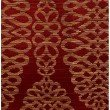 """Plutus Brands Sweet Henna Luxury Throw Pillow in Red and Gold Pillows 16"""" x 16"""" (PBRA1380-1616-DP)"""