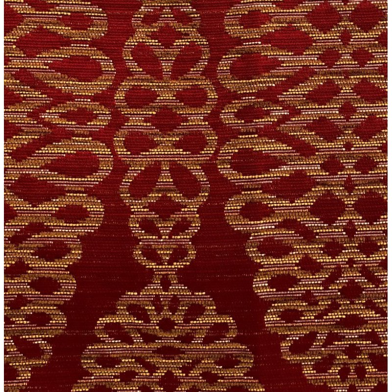 """Plutus Brands Sweet Henna Luxury Throw Pillow in Red and Gold Pillows 20"""" x 20"""" (PBRA1380-2020-DP)"""