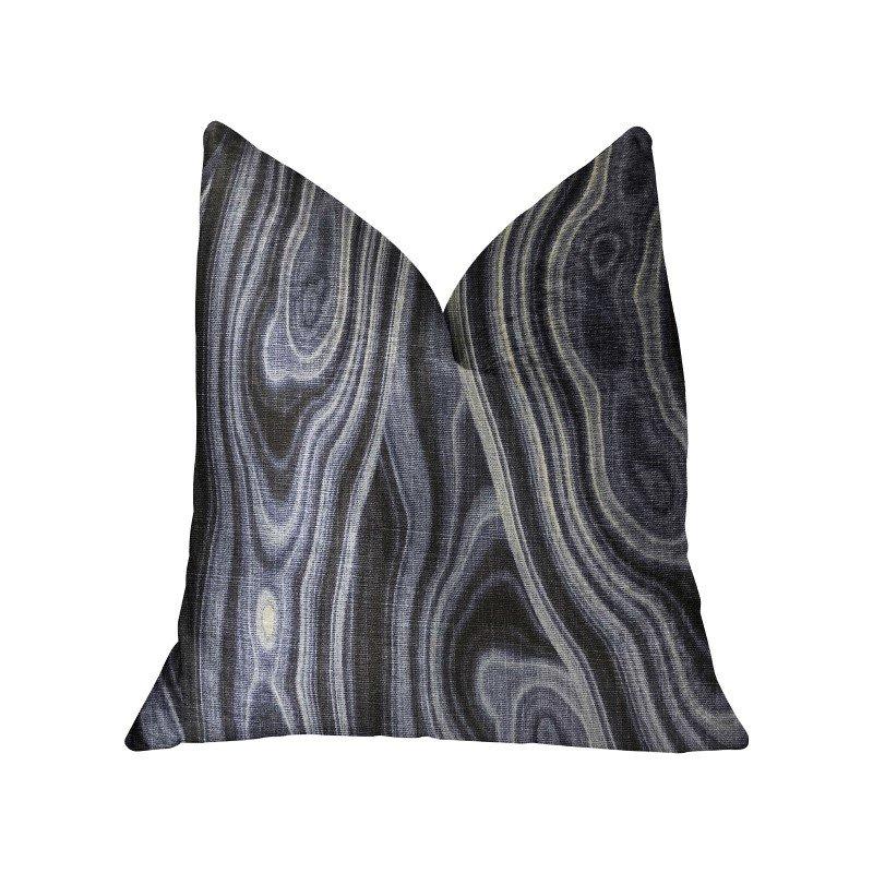"Plutus Brands Swiss Marble Blue Luxury Throw Pillow 20"" x 36"" King (PBRA2217-2036-DP)"