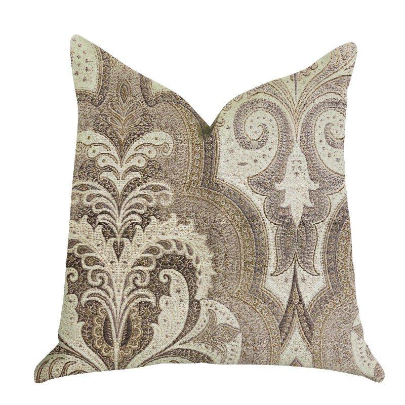 """Plutus Brands Tawny Isabella Damask Luxury Throw Pillow 20"""" x 36"""" King (PBRA1338-2036-DP)"""