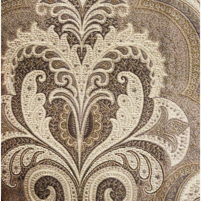 """Plutus Brands Tawny Isabella Damask Luxury Throw Pillow 24"""" x 24"""" (PBRA1338-2424-DP)"""