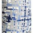 "Plutus Brands Tierra Monte Plaid Navy Blue and Gray Handmade Luxury Pillow 16"" x 16"" (PBRAZ234-1616-DP)"