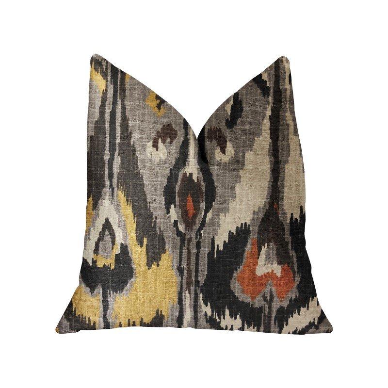 "Plutus Brands Tigerlily Gray Luxury Throw Pillow 16"" x 16"" (PBRA2250-1616-DP)"