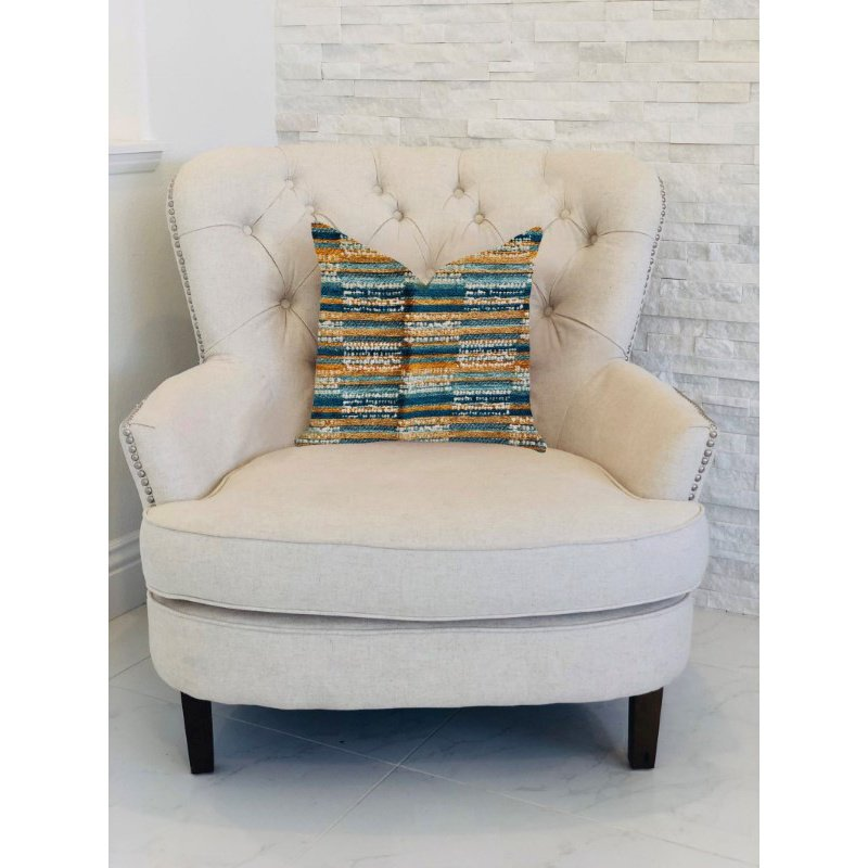 "Plutus Brands Timber Blue and Beige Textured Luxury Throw Pillow 20"" x 26"" Standard (PBRA1310-2026-DP)"