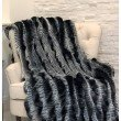 "Plutus Brands Tissavel Char-pei Gray and Black Chinchilla Faux Fur Luxury Throw Blanket 108""L x 90""W Full - Queen (PBSF1451-108x90T)"