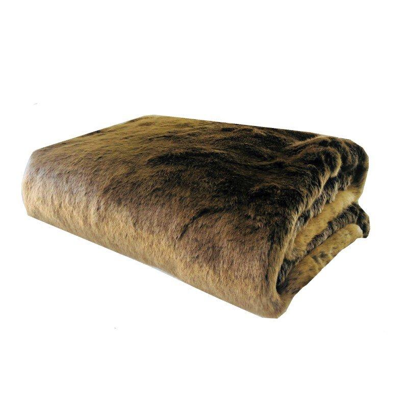 "Plutus Brands Tissavel Volga Rabbit Faux Fur Handmade Luxury Throw 60""W x 72""L (PBSF1446-6072-TC)"