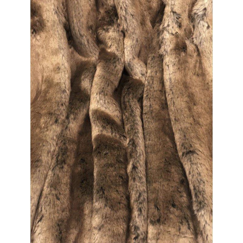 "Plutus Brands Tissavel Volga Rabbit Faux Fur Handmade Luxury Throw Blanket 90""L x 90""W Full (PBSF1446-9090-TC)"