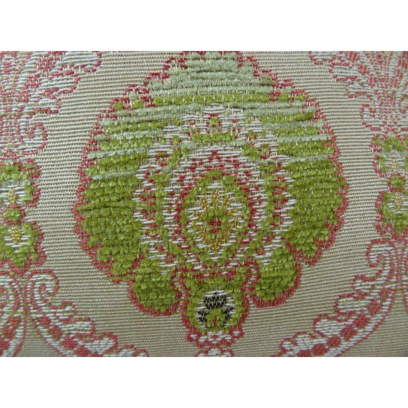 "Plutus Brands Tulip Garden Pink and Green Handmade Luxury Pillow 20"" x 36"" King (PBRAZ060-2036-DP)"