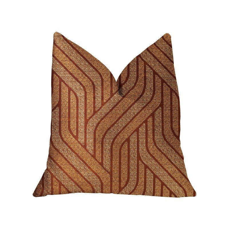 """Plutus Brands Twin Overpass Orange Luxury Throw Pillow 16"""" x 16"""" (PBRA2303-1616-DP)"""