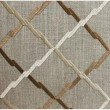 """Plutus Brands Urban Square Brown and Beige Luxury Throw Pillow 20"""" x 20"""" (PBRA1355-2020-DP)"""