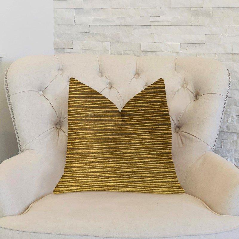"Plutus Brands Valentina Textured Bronze Luxury Throw Pillow 12"" x 20"" (PBKR1908-1220-DP)"