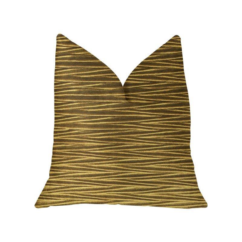 "Plutus Brands Valentina Textured Bronze Luxury Throw Pillow 20"" x 36"" King (PBKR1908-2036-DP)"