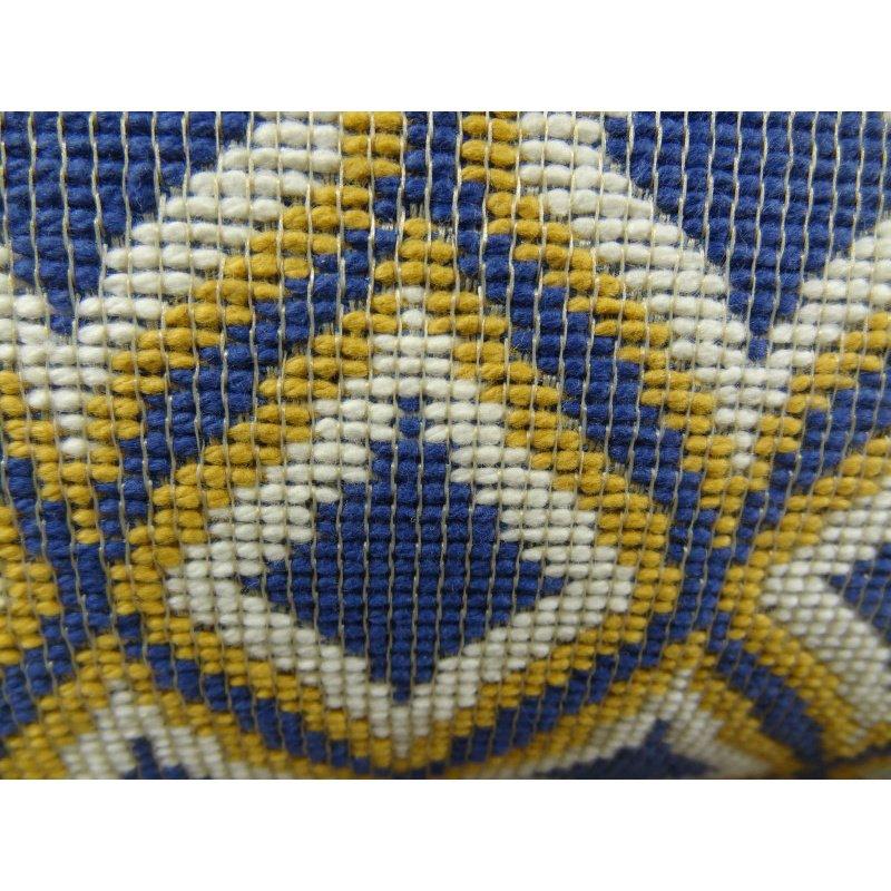 "Plutus Brands Verdana Diamond Lavender White and Yellow Handmade Luxury Pillow 20"" x 30"" Queen (PBRAZ070-2030-DP)"