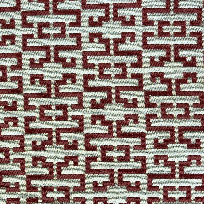 "Plutus Brands Viva Red Link Red and Beige Luxury Throw Pillow 20"" x 30"" Queen (PBKR1989-2030-DP)"